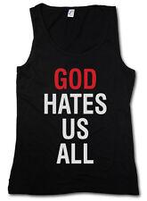 God Conseil Us All Femmes Tank Top culte précédemment Hank Moody TV DUCHOVNY