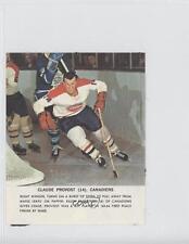 1964 Toronto Star NHL Photos #CLPR Claude Provost Montreal Canadiens Hockey Card