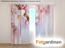 "Fotogardinen ""Blüten"" Vorhang 3D Fotodruck, Fotovorhang, Maßanfertigung"