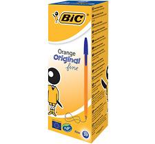 New Bic Orange BLUE Fine Biro Pen 0.8mm *CHOOSE FROM MENU, UK SELLER FREE P&P*