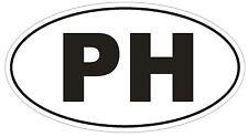 PH Philippines Oval Bumper Sticker or Helmet Sticker D2012 Country Code