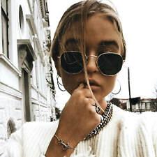 Designer Small Round Oval Sunglasses Men Women Vintage Frame Retro Dark Lens NEW