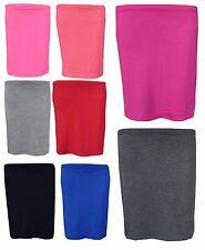 Girls Pencil Skirt Kids Plain Color School Fashion Dance Skirts Age 7-13 Years