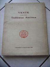 Catalogue de vente de tableaux anciens 1926