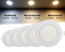LED Panel Einbaustrahler Deckenleuchte Einbau Leuchte Rund Spot Flach Slim 3-24W