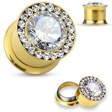 golden multiple gem Piercing tunnel steel