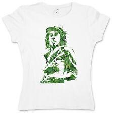 Fumare Bob i malvagia Shirt-Jamaica Marley Cannabis Erba Hemp Wailers Rasta Girl