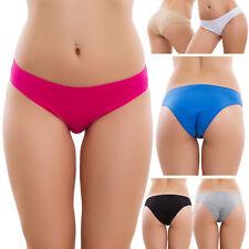 Stock 6 Piezas Slip Mujer Bragas Básico Elástico Algodón Nuevo Sexy 170-6