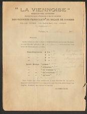 """POITIERS (86) ASSOCIATION OUVRIERE FABRICANTS de BALAIS """"LA VIENNOISE"""" en 1919"""