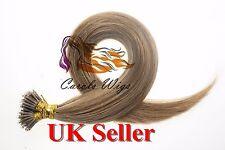 """Migliore qualità 16"""" 1 G 8A* Nano Anello Doppio disegnato Armeno Extension Capelli Umani Regno Unito"""