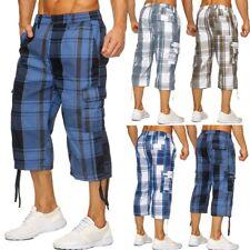 Hombres Bermudas Cargo Shorts a cuadros cortos de estiramiento de verano Sport K