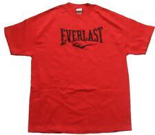 EVERLAST Herren T-Shirt Rot Gr. L Everlast Schriftzug auf der Vorderseite