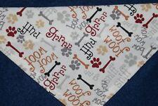 Dog Bandana, OVER THE COLLAR,clothes, pet, Size S,M,L,XL, Dog Dialogue!,
