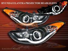 2011-2013 Elantra Projector Headlights Sedan Halo CCFL Black LED Strip