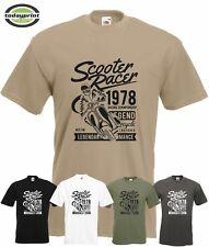 T Shirt Scooter Racer,  für Roller, V50, Vespa, Motorroller, Vintage, Rally Fans
