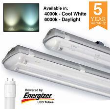 LED Ready T8 2ft 4ft 5ft 6ft Single Twin Non Corrosive Weatherproof IP65 Batten