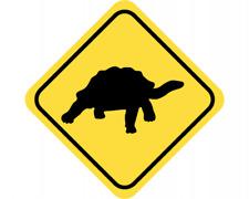Landschildkröte Warnschild Warndreieck Aufkleber Achtung Vorsicht Tier