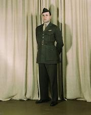 US Marine Corps Major in World War II winter uniform Photo Print