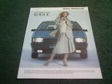 """1986 RENAULT ESPACE """"SPACE TRAVELLER"""" - UK VOGUE MAGAZINE COLOUR FOLDER BROCHURE"""