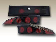 1995-1999 Mitsubishi Eclipse Tail Lights JDM Black 3PC 95 96 97 98 99