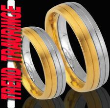 2 Partner Ringe Trauringe GOLD Platiert & Gratis GRAVUR , Verlobungsringe * TE28