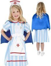 Ragazze Vintage Costume da Infermiera Bambini Ospedale Book Week Nuovo