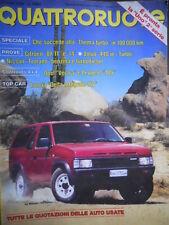 Quattroruote 406 1989 Citroen BX11 e 14,Nissan Terrano,Opel Vectra,Volvo 440 ie
