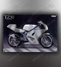 VINTAGE YAMAHA TZ50  MOTORCYCLE BANNER