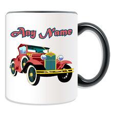 Personalised Gift Classic Car Mug Money Box Vintage Retro Sportscar Driver Cup