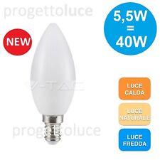 12 LAMPADINE LED V-TAC VT-2076 E14 A CANDELA 5.5 WATT KIT 12 LAMPADINA LAMPADA