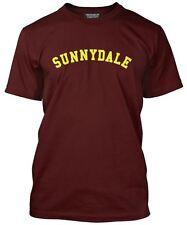 NUOVO Da Uomo Sunnydale Borgogna T-Shirt Tutte Le Taglie BUFFY HIGH SCHOOL SHS