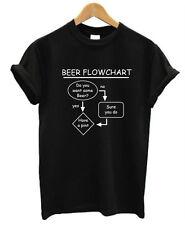 Diagrama de cerveza Camiseta Graciosa Hombre Mujer S-XXL PUB Ale Lager ROSA