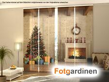 Fotogardinen Weihnachtsbaum, Schiebevorhang Schiebegardinen 3D Fotodruck,auf Maß