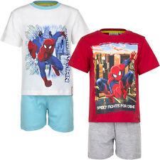 Pyjama Set Kurz Schlafanzug Jungen Spiderman Türkis Rot Grau 98 104 116 128 #3
