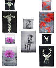 PREMIUM Baumwoll Satin Bettwäsche mit Digitaldruck modern 135x200 / 155x220