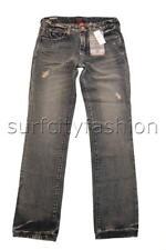 12 - 16 Boys Quiksilver STRAIGHT VINTAGE CRACKED Jeans Pants Denim Rrp $79.99