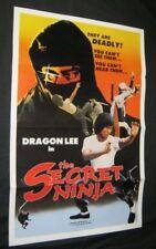 Original 1982 SECRET NINJA INJAMUN SALSU Martial Arts DRAGON LEE Tri Folded