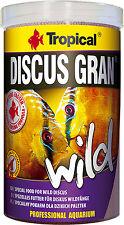 Tropical Discus Gran Wild scivolando lentamente granuli per discus Selvatici 250ml1000ml