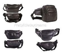 Bum Bag Fanny Pack Mens Travel Festival Waist Belt Leather Holiday Money Wallet