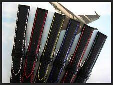 Carbon Fiber watch band strap Ballistic Sport Military IW SUISSE 18 19 20 22 24