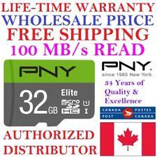 WHOLESALE PNY 32GB Micro SD Card MicroSD Memory Card Elite U1 LIFETIME WARRANTY