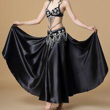 Arabic Belly Dance Costumes Beaded Bra Top Hip Belt 2 Sides Slit Skirt Suit Wear