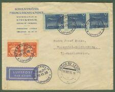 SVEZIA. Aerogramma da Stoccolma x Cecoslovacchia 1935