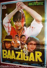 BAAZIGAR (1993) BOLLYWOOD POSTER # 2 SHAHRUKH KHAN, KAJOL, SHILPA SHETTY
