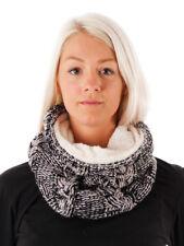O'Neill Scarf Loop round Scarf Tubes Black Superfleece Braid Pattern Warm