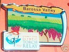 SYDNEY OLYMPIC TORCH RELAY PIN - BAROSSA VALLEY