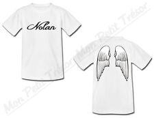 T-shirt Enfant Ailes d'Ange avec Prénom Personnalisé