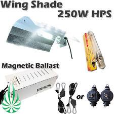 250W MH Grow Light HPS/MH Magnetic Ballast With Aluminum Wing Shade Lighting Kit