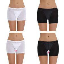 Women See-through Sheer Mesh Boyshort Panties Boxer Briefs Shorts Underwear