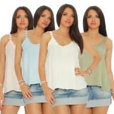 Frauen Freizeit Top Sommer Cami Top Bluse strappy tank tops mit Blumen Trägertop